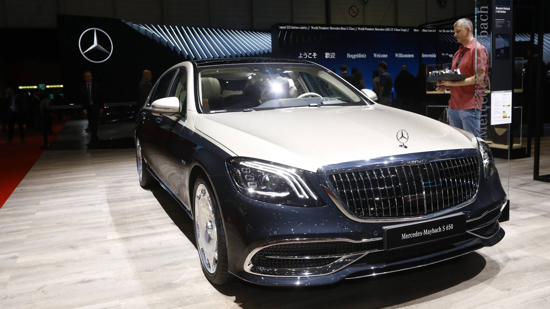 mercedes maybach s class live from geneva motor show. Black Bedroom Furniture Sets. Home Design Ideas