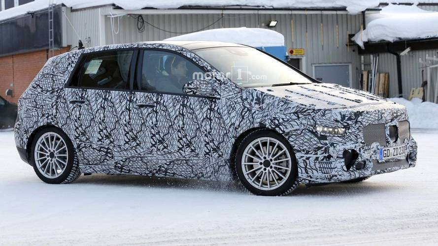 2019 Mercedes B-Class Spotted Riding Low