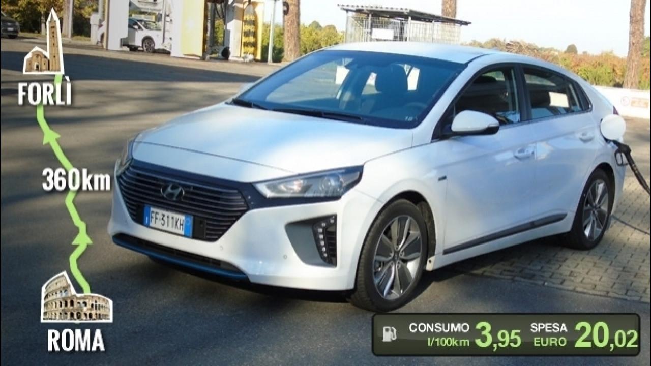 [Copertina] - Hyundai Ioniq Hybrid, la prova dei consumi reali