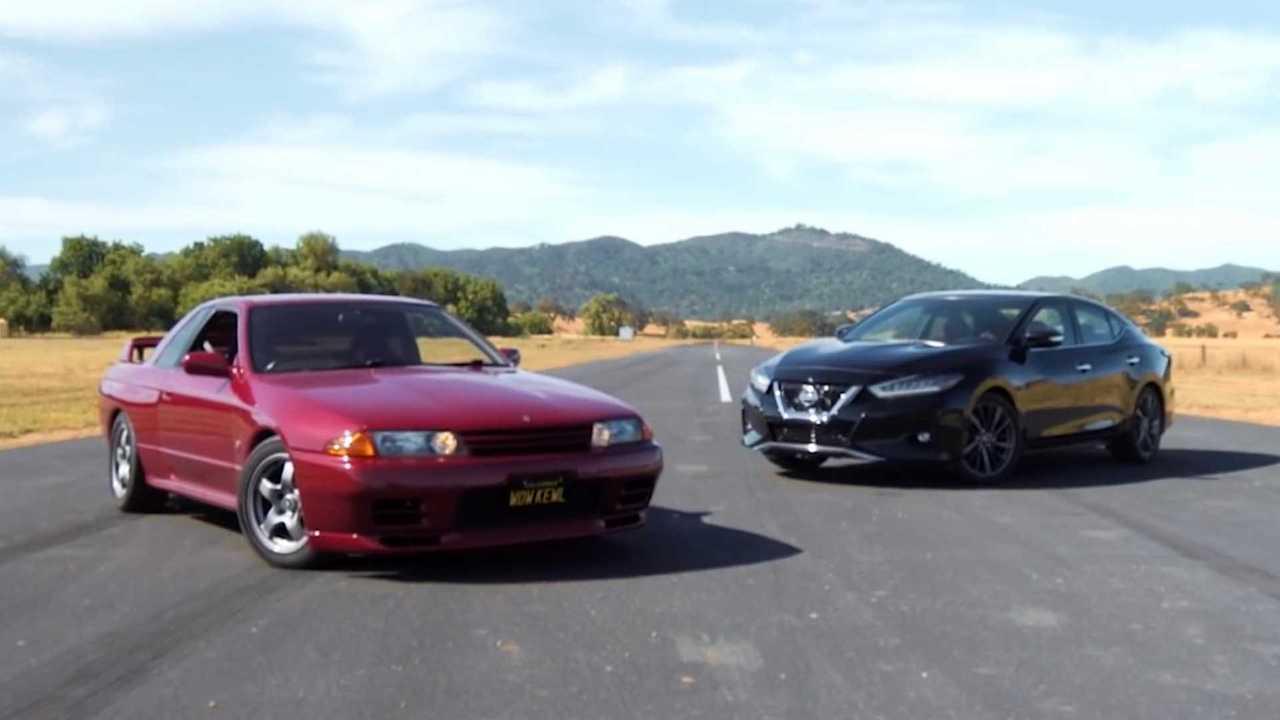 Nissan GT-R Races Nissan Maxima