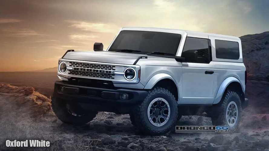 2020 Ford Bronco'nun 2 Kapılı Versiyonuna Ait Dijital Tasarımlar (Render)