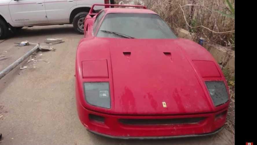 ¿Ha aparecido el Ferrari F40 abandonado del hijo de Sadam Hussein?