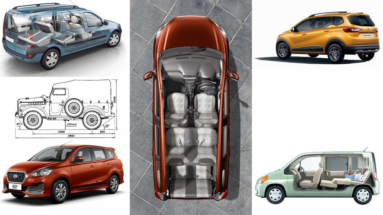 Smallest seven-seater cars