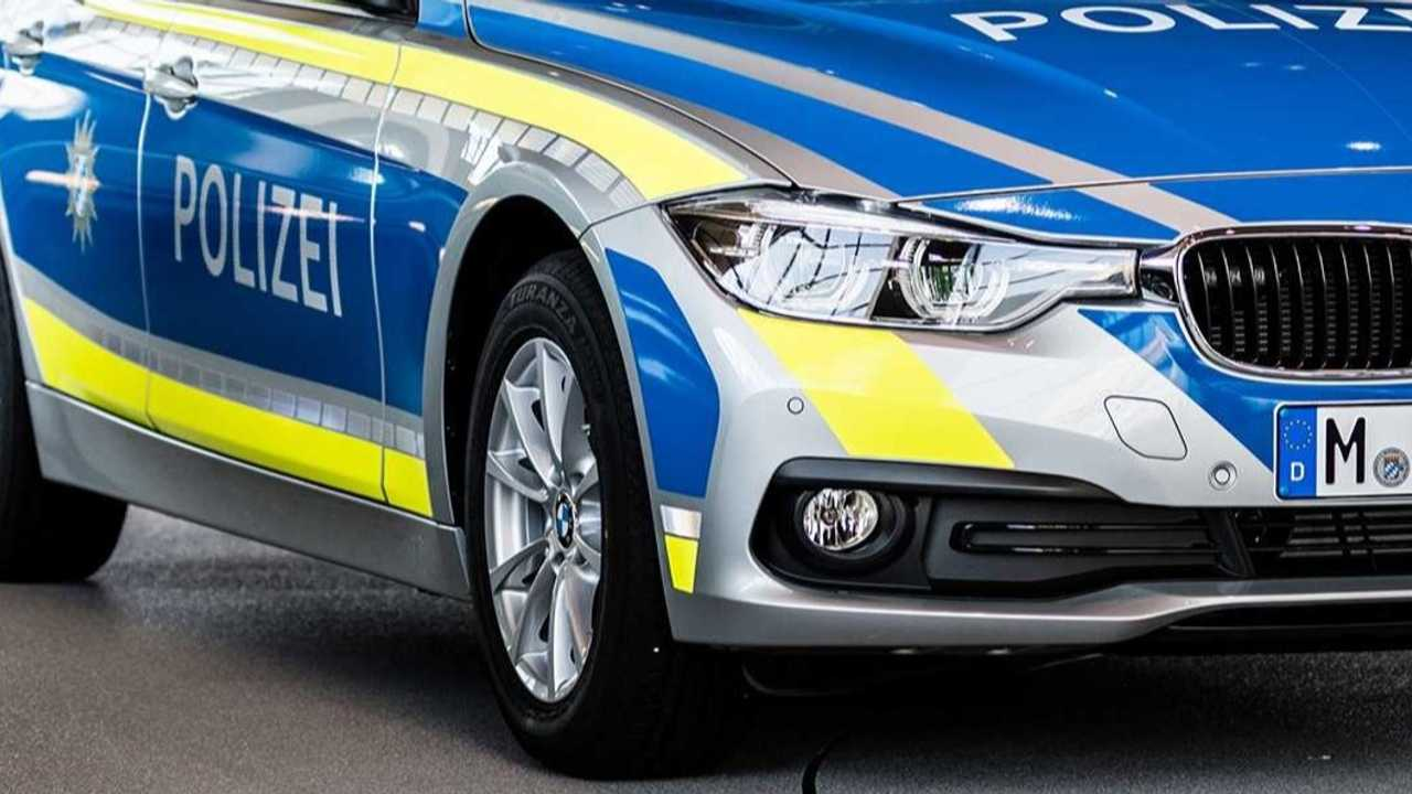 BMW serie 3 polizia tedesca