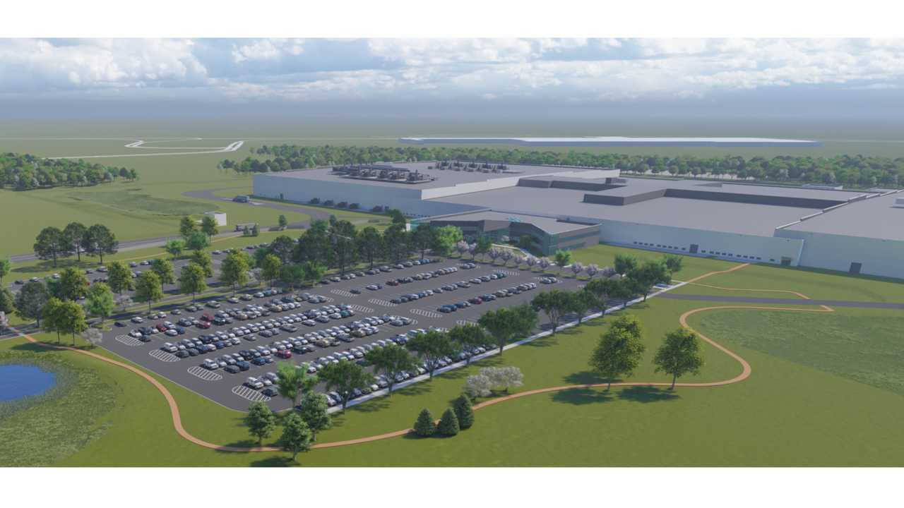 Conceptual rendering of Ultium Cells LLC battery cell manufacturing facility in Lordstown, Ohio.