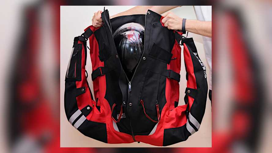 This Moto Jacket Turns Into A Backpack To Hold Your Helmet Off The Bike