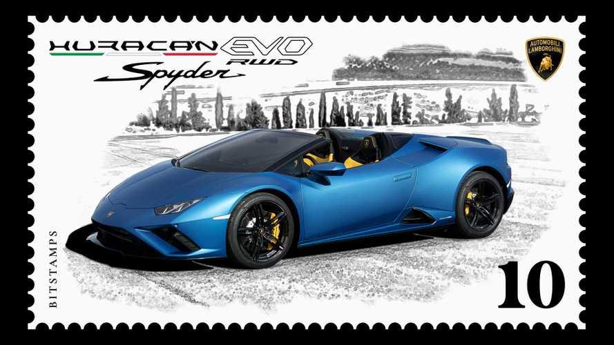 Lamborghini увековечила суперкар на цифровой почтовой марке