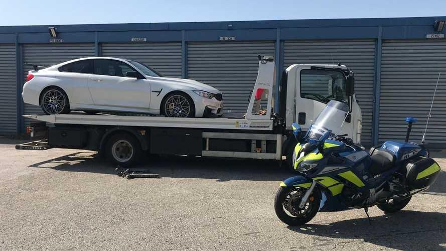 Une BMW M4 en excès de vitesse saisie par les gendarmes