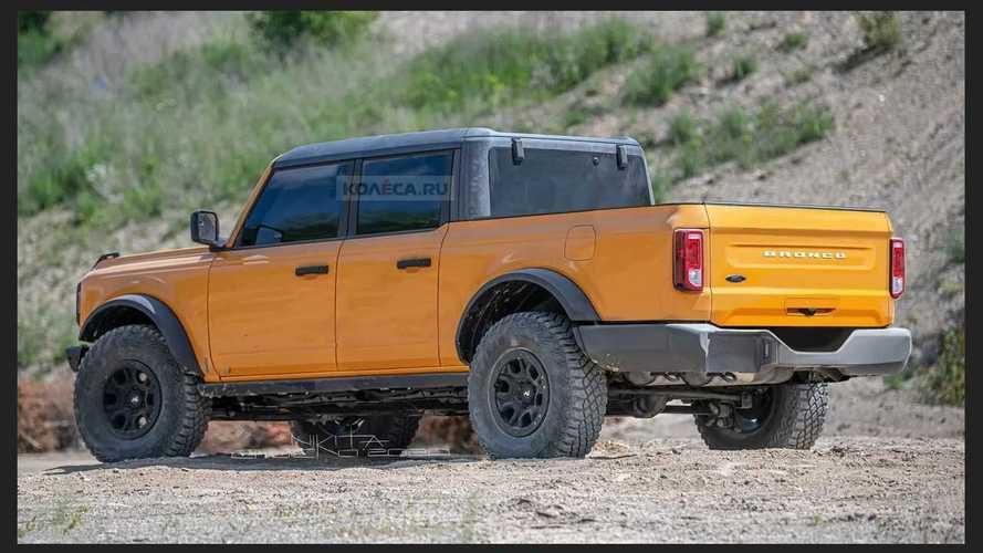 Novo Ford Bronco: projeção adianta picape rival da Jeep Gladiator