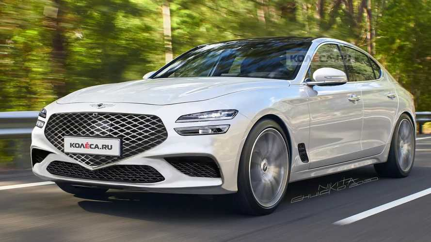2022 Genesis G70 Renderings Preview The Forthcoming Facelift