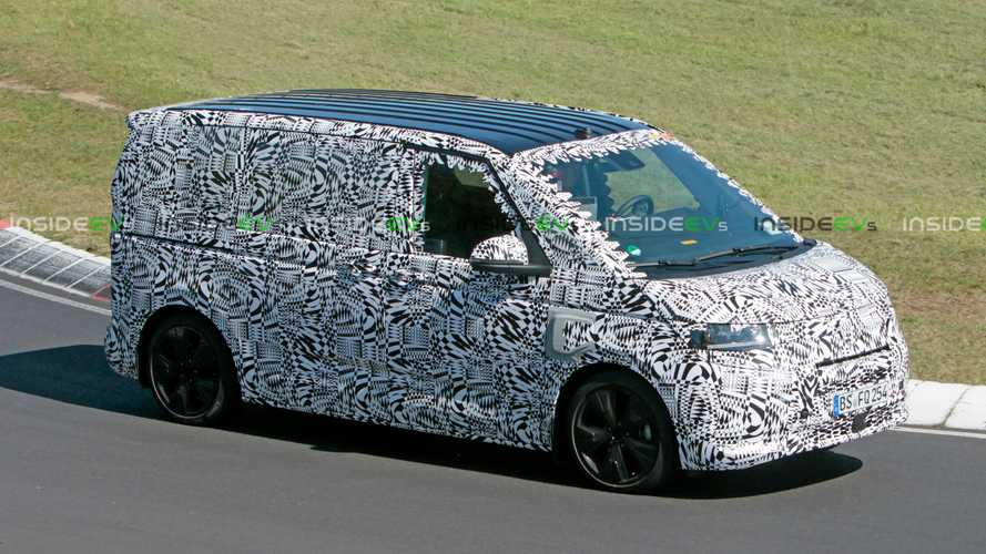 Volkswagen T7 Transporter/Multivan PHEV snapped testing on the Nurburgring