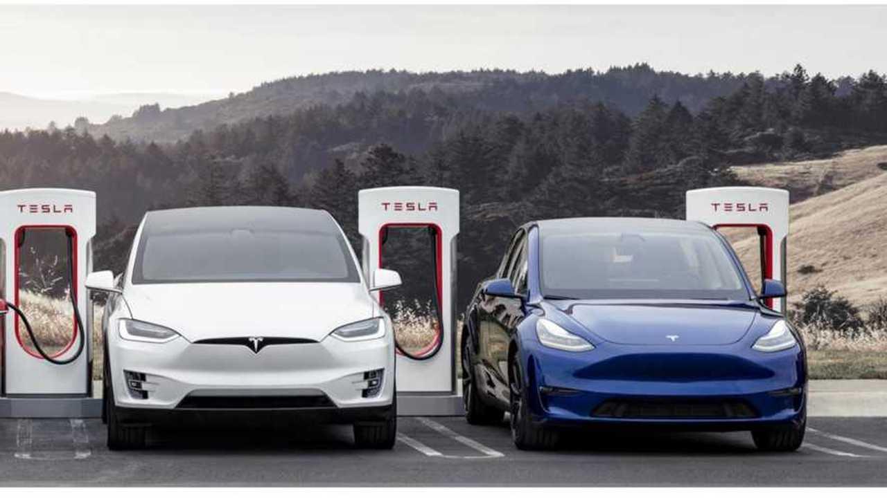 Tesla SEXY Supercharging