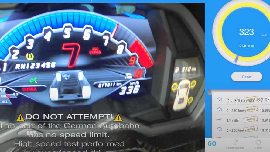 Watch Lamborghini Aventador S Top 200 MPH On The Autobahn