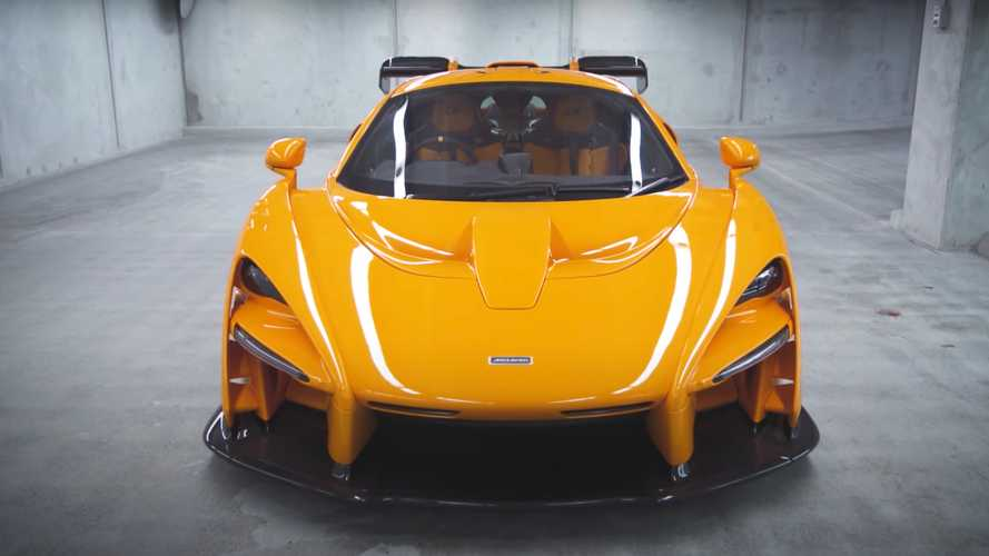 Here's a rare look at the very orange McLaren Senna LM