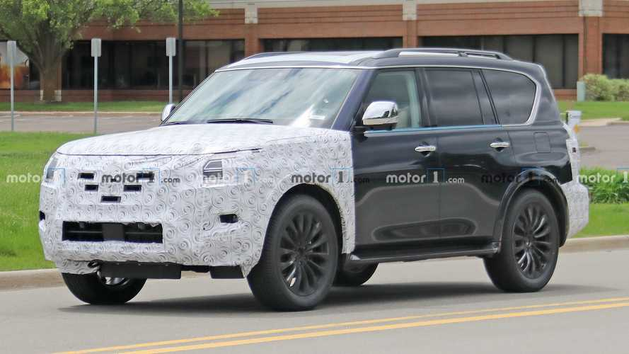 2021 Nissan Armada Spied For First Time Hiding Its Tweaked Fascias