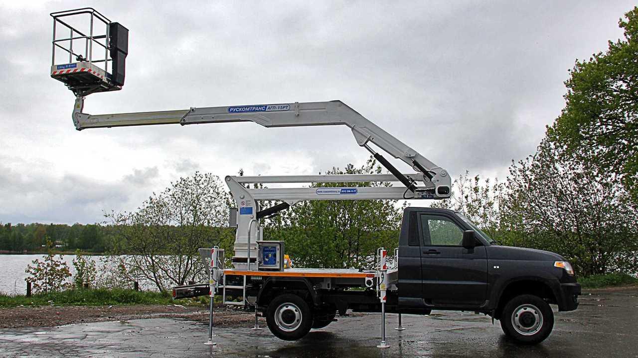 Автогидроподъемник АГП-15РТ на базе «УАЗ Профи»