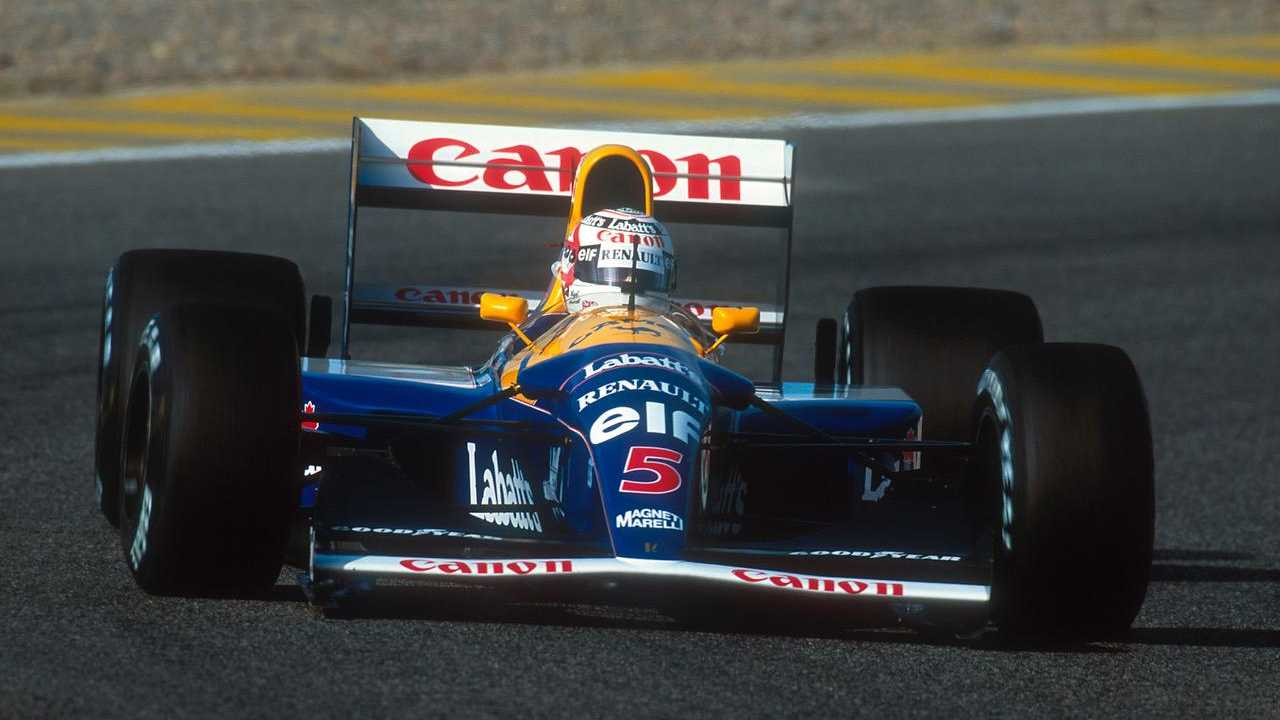 Mansell's star Williams FW14B leads Shelsley Walsh attractions