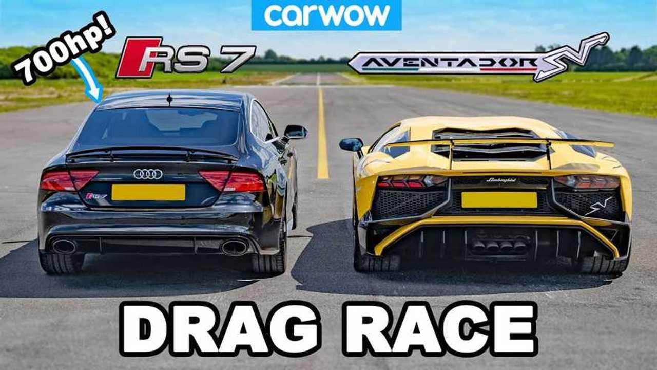 Audi RS 7 vs Lamborghini Aventador SV
