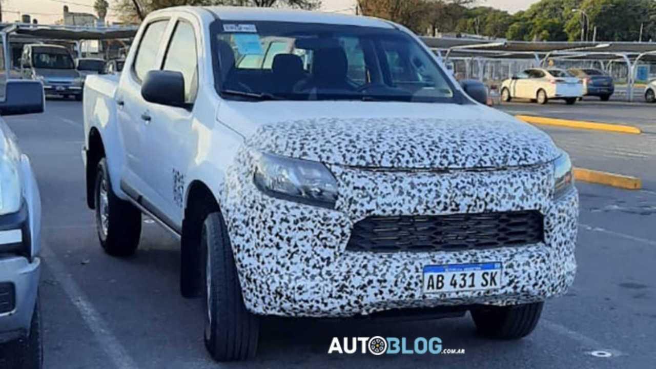 Flagra: Nova Chevrolet S10 2021 na Argentina
