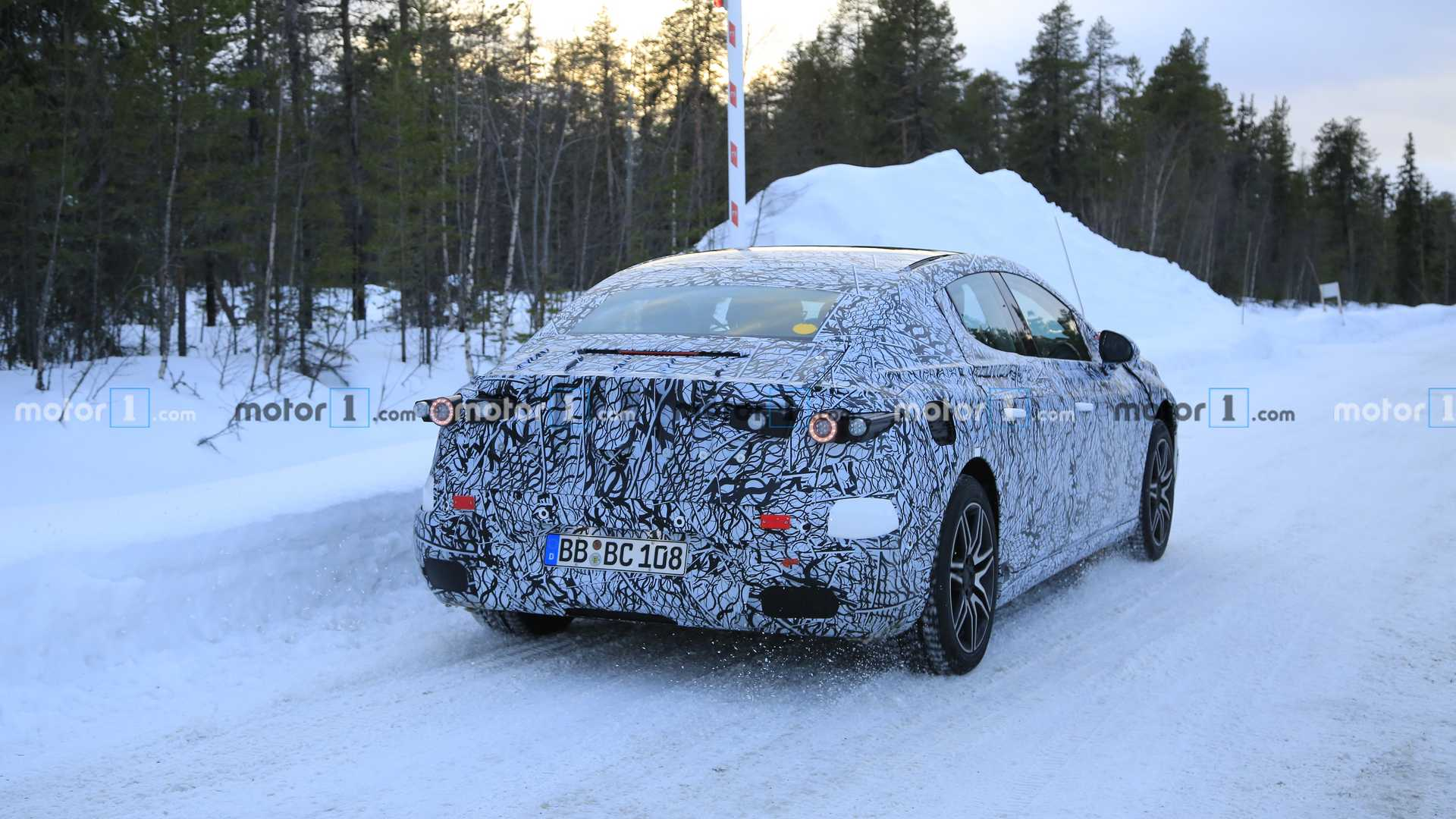 2023 Mercedes EQE Spied As The Electric E-Class Equivalent