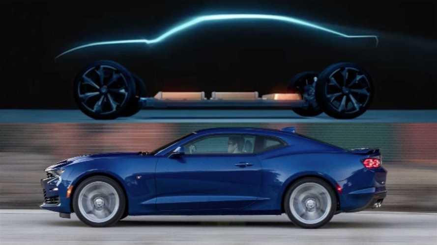 Chevrolet revela teaser de possível Camaro elétrico