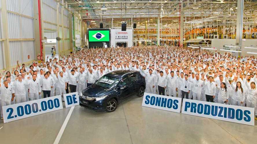 Honda comemora 2 milhões de veículos produzidos no Brasil