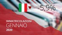 mercato auto italia gennaio 2020
