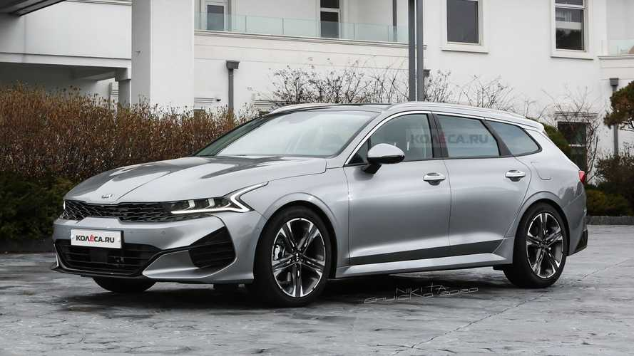 Kia Optima estate render imagines D-segment long roof for Europe