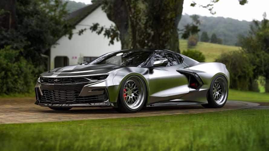 Ortadan Motorlu Chevrolet Camaro Hayali Tasarımı (Render)