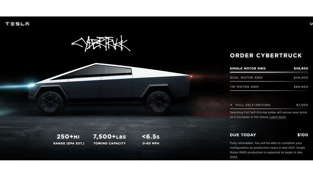 Cybertruck website