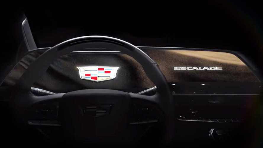 Cadillac Escalade Interior Teaser Shows Large OLED Curved Display