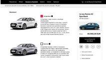 Nuova Audi A3 Sportback, Come Configurarla