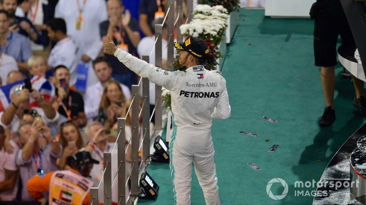 Lewis Hamilton at Abu Dhabi GP 2019