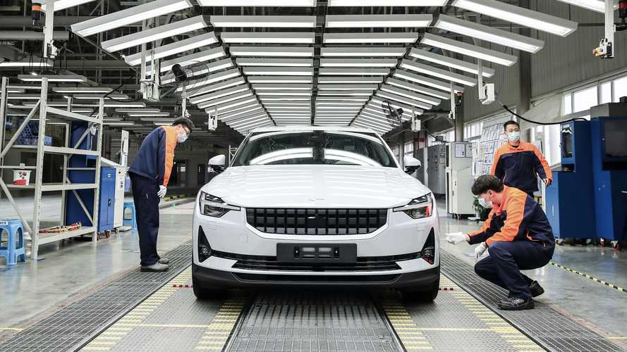 Polestar 2 production in Luqiao, China