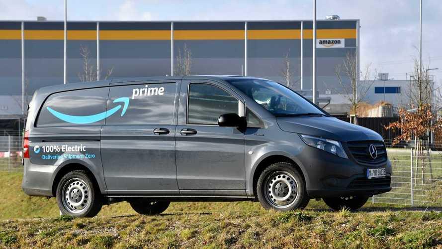 Furgoni elettrici Mercedes eVito per le consegne di Amazon