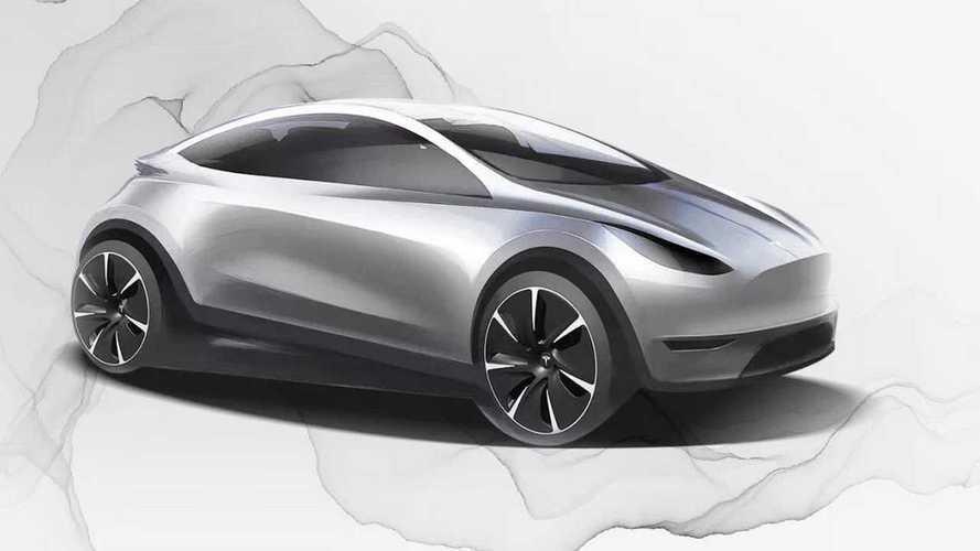 Tesla, spunta il primo rendering di un nuovo modello: è una hatchback