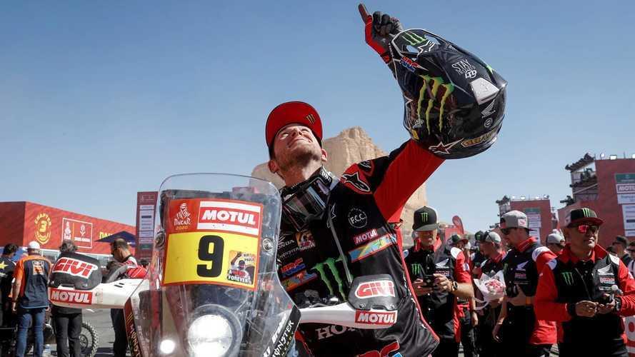 Honda celebra la vittoria di Ricky Brabec alla Dakar [VIDEO]