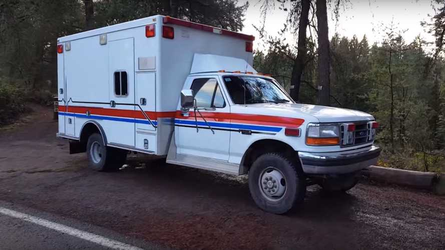 This 1993 Ford F-350 4x4 Ambulance Overland Camper Is For Sale
