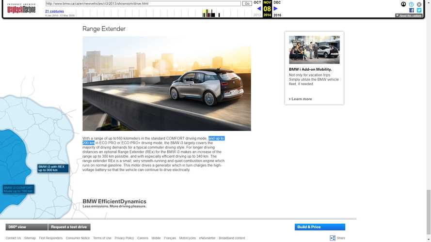 BMW Accused Of Editing Website To Hide False Advertising On i3 Range
