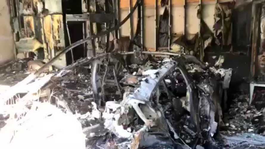 UPDATE: Porsche Admits Taycan Burned Down; Video In Florida Shows It