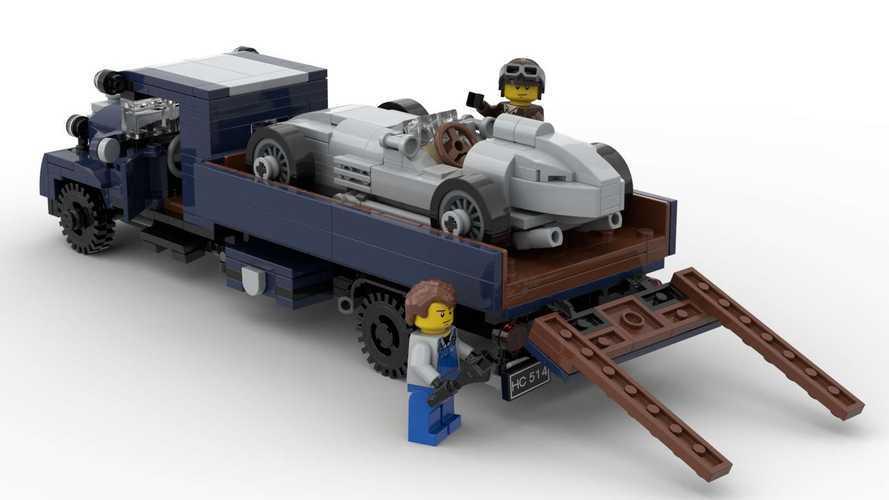 Este Mercedes-Benz W154 'Silver Arrow', de Lego, resulta genial