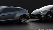 Lamborghini SUV rendering / Rob Evans