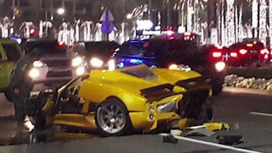 Pagani Zonda F crashes in downtown Dubai [video before & after accident]