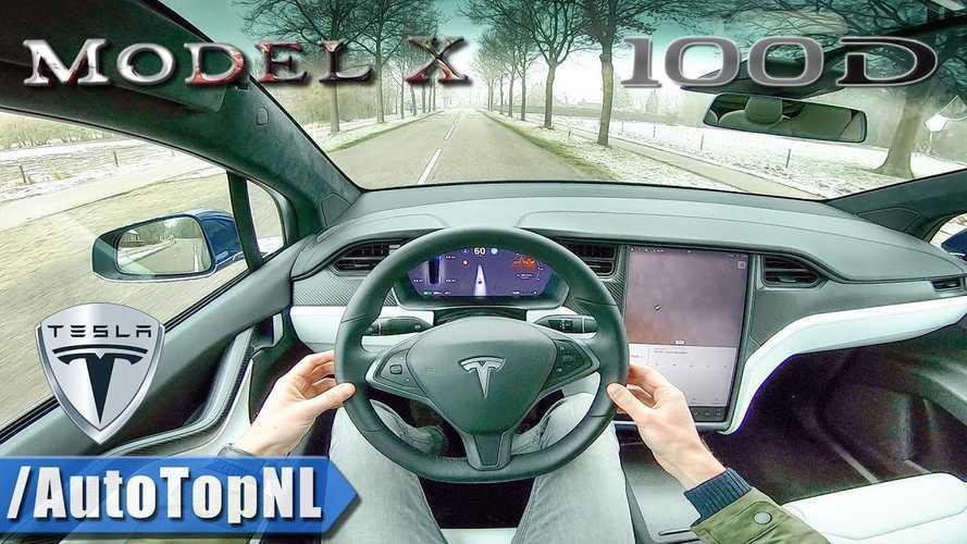 2019 Tesla Model X 100D POV Test Drive: Video