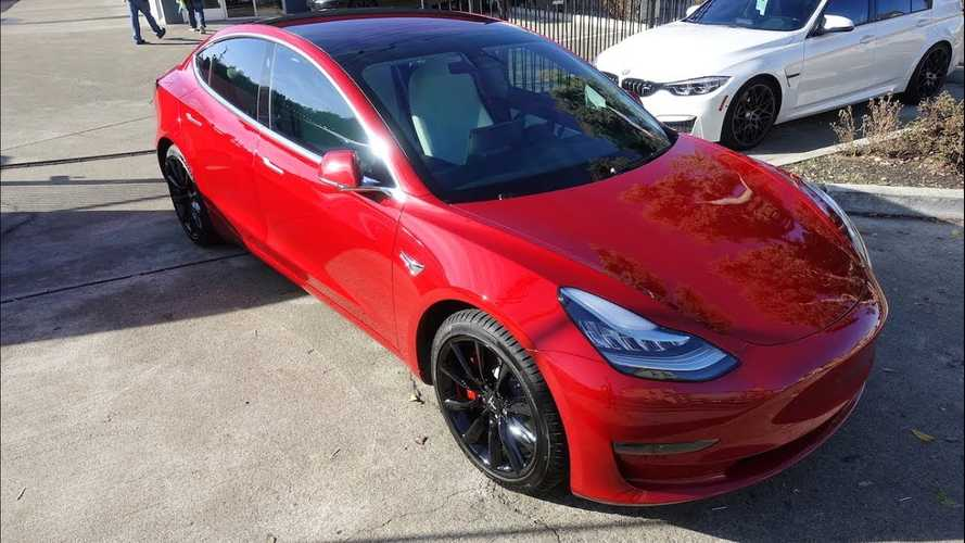 Tesla Model 3: Ceramic Coating Versus Clear Bra: Video