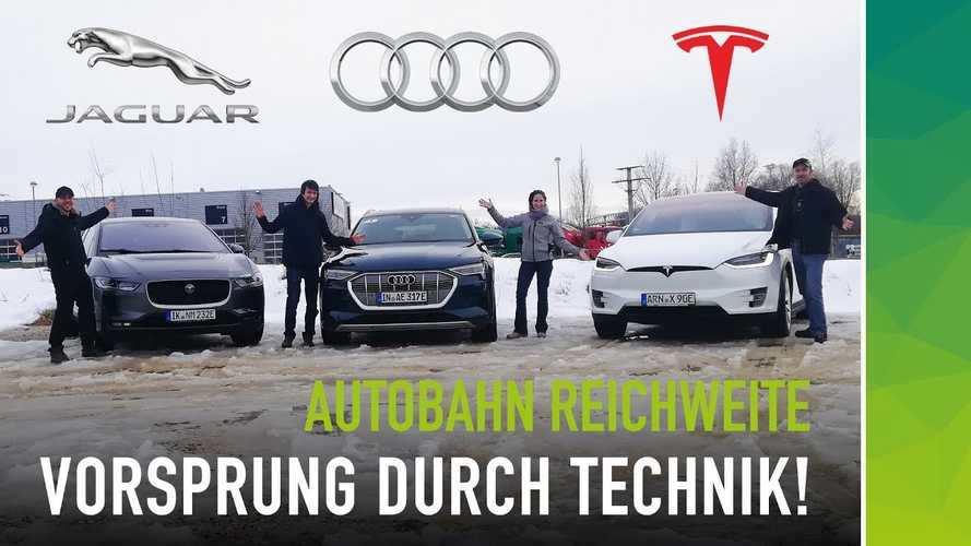 EV Range Test: Tesla Model X Vs. Audi e-tron & Jaguar I-Pace: Video
