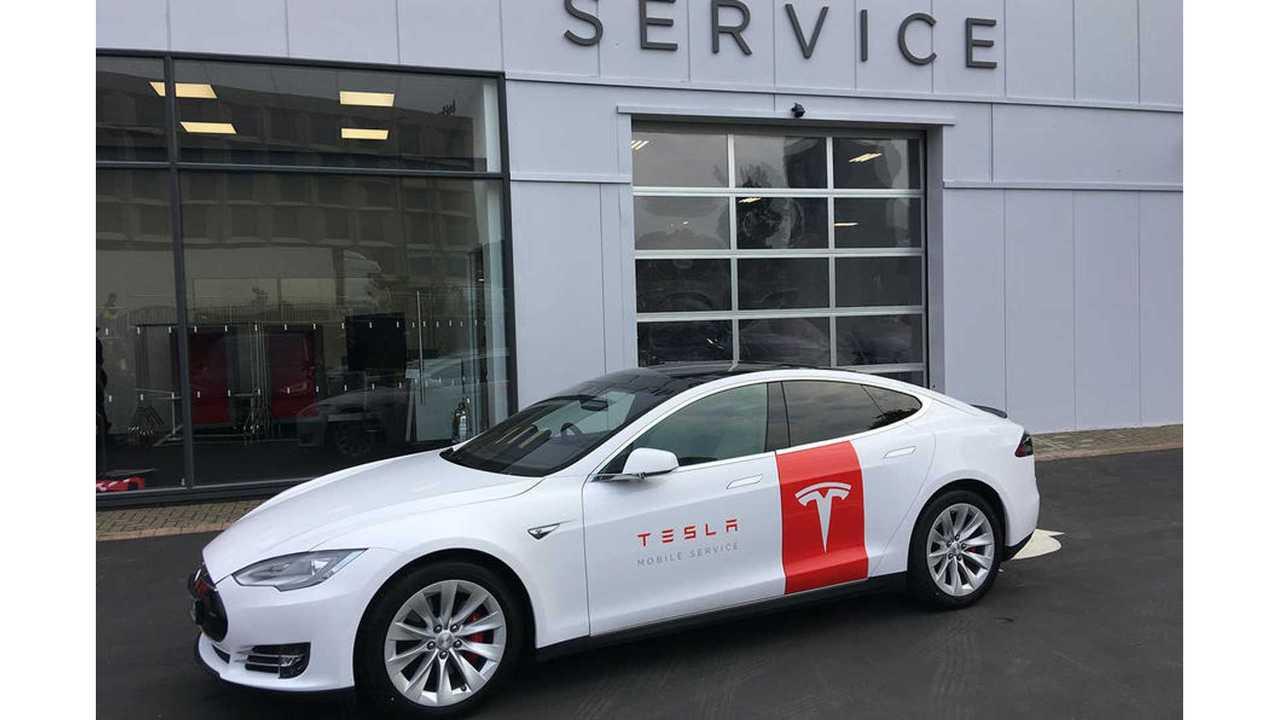 Tesla Model S Mobile Service Cars Hit The Roads In UK
