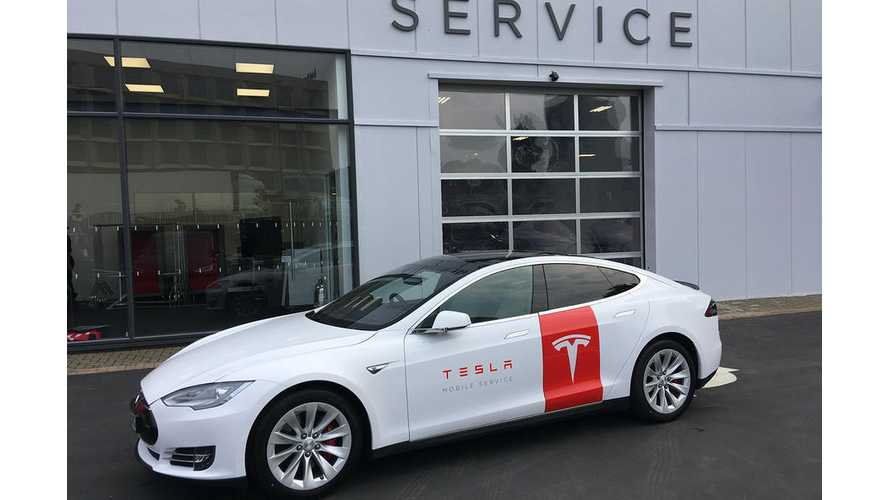 Tesla Model S Mobile Service Cars Hit The Roads In UK