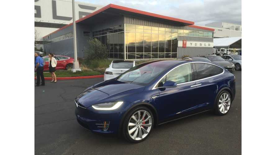 Tesla Delivers First Signature Series Model X