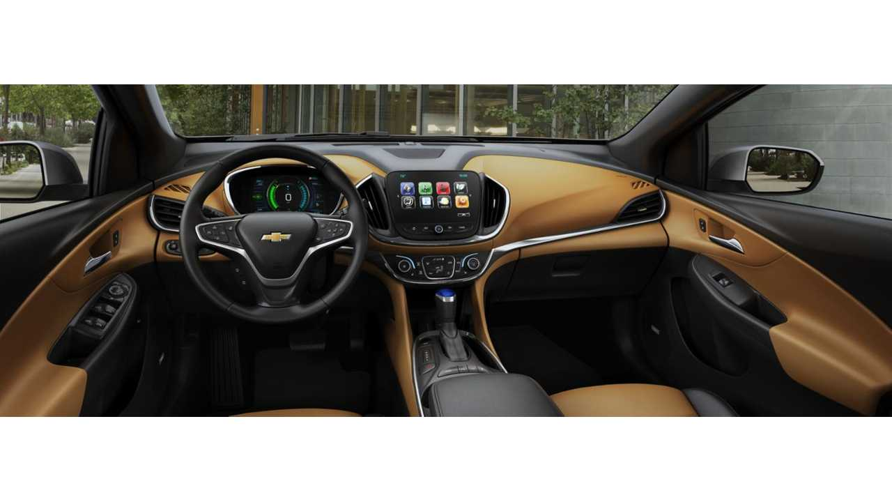 Chevrolet Volt Interior Shown Here In Ltz Trim W Jet Black Brandy Leather